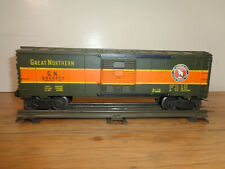 LIONEL O GAUGE # 6464-450 GREAT NORTHERN GREEN AND ORANGE BOX CAR