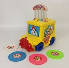 Vintage 1989 Tomy Tuneyville PIPEWAGON & 4 Records Moves Music Sound WORKS