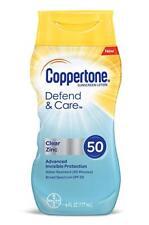 Coppertone Defend & Care Clear Zinc Sunscreen Lotion SPF50 6 Ounces each