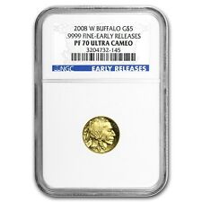 2008-W 1/10 oz Proof Gold Buffalo PF-70 NGC (ER) - SKU #58197