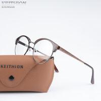 Vintage Round Eyeglass Metal Frame Glasses Retro Spectacles Clear Lens Eyewear