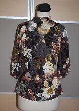 ROBERTO CAVALLI, Luxus Bluse mit Logoknöpfen und Kellerfalten, Gr. 40, EDEL!