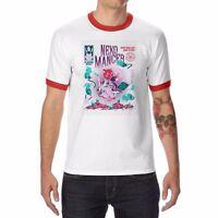Nekomancer funny t shirt men's Ringer Cotton Short Sleeve sport t-shirt for men