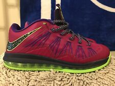 NIKE AIR MAX LEBRON X (10) LOW, 579765-601, Raspberry Red, Mens Size 12
