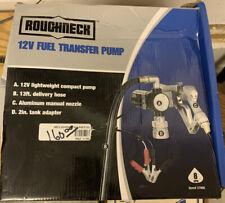 Roughneck 12V Diesel Fuel Transfer Pump 8 Gpm Manual Nozzle Hose 37906