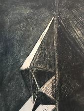 Jacques Villon Gravure À L'eau-forte Rare Signée Cubiste Composition 1959