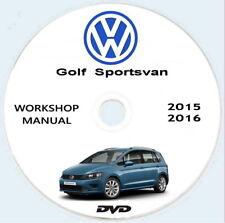 Workshop Manual Volkswagen GOLF Sportsvan,manuale officina+schemi elettrici