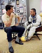ASTRONAUT GUS GRISSOM & WALLY SCHIRRA PRIOR TO GEMINI 3 8X10 NASA PHOTO (BB-946)