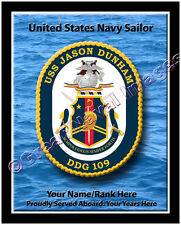 USS Jason Dunham DDG 109 Personalized Ship Crest Print on Canvas 2D Effect