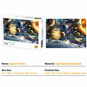 1000 Pieces Jigsaw Puzzles Home Game Toy Kids Sci-Fi Style Space Traveler Planet