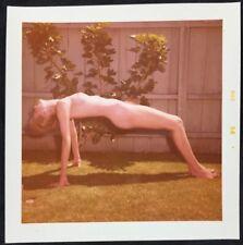Vtg Original August 1958 Kodak Snapshot Perky Risque Amateur Girl Nude Outdoors