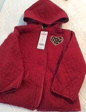 Gymboree NWT GLAMOUR KITTY  Dark Red Quilted Hooded  Jacket Size 4T