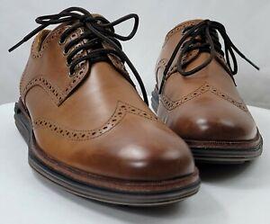 Cole Haan OriginalGrand Lux Oxfords British Tan Leather Wingtips US 10.5 C31547