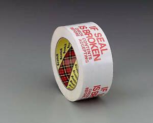 3771 - Scotch Printed Message Box Sealing Tape - 48mmx100m - White - (Pack of 1)