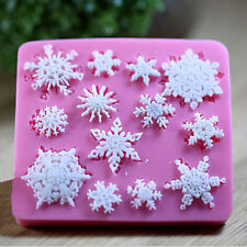 Snowflake Silicone Fondant Cake Mold Soap Chocolate Candy Mould DIY Decorating.