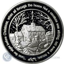 1 - 1 oz .999 Fine  Silver Round - Twas the Night Before Christmas - BU