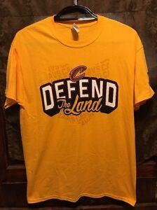 CLEVELAND CAVALIERS Defend The Land T Shirt LRG CAVS SGA Playoffs Round 2 5/3/17