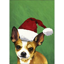 Chihuahua Christmas Flag