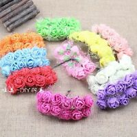 Handmade Bridal wreath iron wire Bud silk Bubble bouquets of roses 12-144pcs