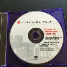 Academy of Art University Academy Experience DVD Video Disc San Francisco
