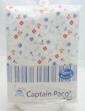 Noukie's drap housse coton bébé Captain Paco motifs ancre, bateaux..70 x 140 cm