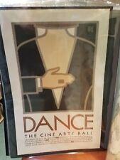 DANCE Poster #80 David Lance Goines 1978 Cine Arts Ball Original 16 x24 VG