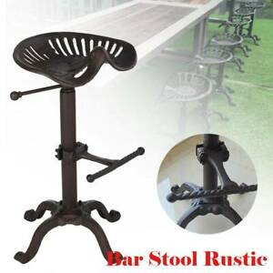 Vintage Tractor Seat Adjustable Bar Stool Rustic Cast Iron Industrial Chair UK