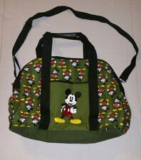 Disney Mickey Mouse green diaper messenger bag baby excellent condition