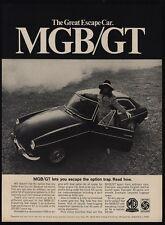 1968 MGB/GT Sports Car - Pretty Woman - Great Escape Car - VINTAGE AD