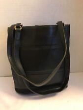 """Vintage Coach Shoulder Bag Double Straps Black Leather 10"""" H X 9"""" X 4"""" W"""
