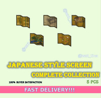 Japanese Style Screen Complete Collection 5 pcs FASTEST!!!