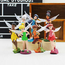 "Disney Tinker Bell & Friends #2  *Set Of 7*  4"" Birthday Cake Topper Figurines"