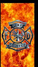 "Fire Fighter Shield 30""x60"" Beach Towel"