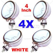 "4X 4"" WHITE Angel Eye Halogen H3 Spotlights Spot Fog Light Car Van Scooter Light"