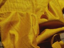 50's 60's VINTAGE Fabric Bright Gold Chenille Home Decor Upholstery 1.3 YDS