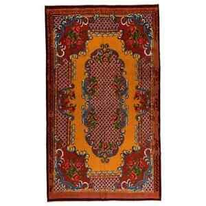 6x10 Ft Vintage Bessarabian Kilim, Floral Handwoven Wool Rug from Moldova