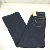 St Johns Bay Womens Jeans Size 14 High Rise Dark Wash Secretly Slender NWT