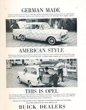 1960 Buick Opel Rekord and Caravan - Original Car Advertisement Print Ad J297
