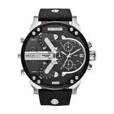 DIESEL Fall 2014 Men's 57mm Black Calfskin Stainless Steel Case Watch DZ7313