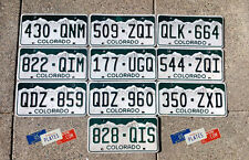 10 COLORADO MOUNTAIN GRAPHIC LICENSE PLATES TAGS BULK PRICE SET LOT DENVER HIGH