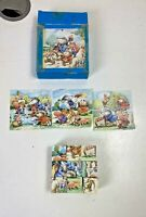 Vintage children's cube puzzle woodland animals picture cards included