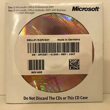 Microsoft Office 2007 PRO PROFESSIONAL INGLESE CON CD DVD MS RG & IVA FULL