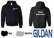 Custom Printed Personalised Heavy Gildan Hoodie Hoody Unisex business workwear