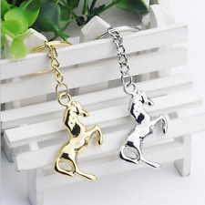 2ps Keychain Metal Horse Keyring Key Chain Pendant gift two colors