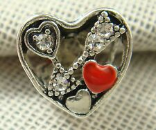 hot European Silver CZ Charm Beads Fit sterling 925 Necklace Bracelet Chain ds2