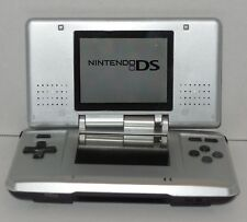 Nintendo DS Silver Original Handheld Video Game Console Broken Hinge Still Works