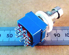 Three Pole Double Throw, Guitar Effect Pedal Bypass Switch, 3PDT Stomp 9 pin ff