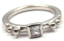 Authentic! Loree Rodkin Platinum Diamond Stackable Band Ring