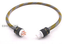 High quality Hi-End 1.5M 5ft OHFC 8N Power Cord AC US Power Cable OD:15mm