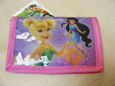 donna / rosa da bambina Disney Fate portafoglio con zip MONETA AREA NUOVO